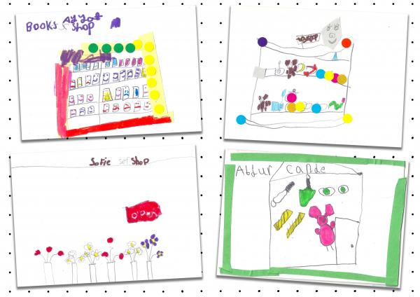 Holyhead Primary School Future High Street window designs, Digital Postcards