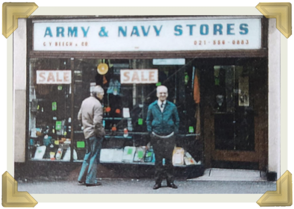 Cecil Beech owner, Army Navy at 19 Lower High Street (courtesy of Chris Murray)