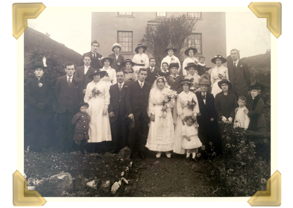 The Roberts sisters' grandparents' Wedding Day, married at St. Bartholomew's parish church Wednesbury on 11 November 1916