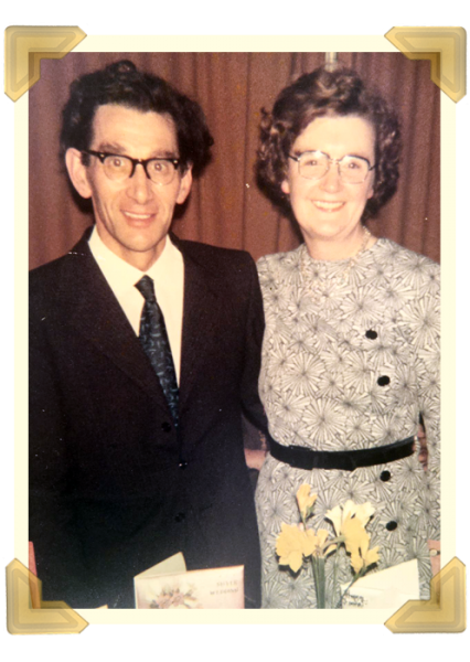 Mary and Henry's 25th anniversary, The Anchor Pub, 30 March 1973. Tragically, Henry would die 3 months later leaving Mary a widow at aged 48