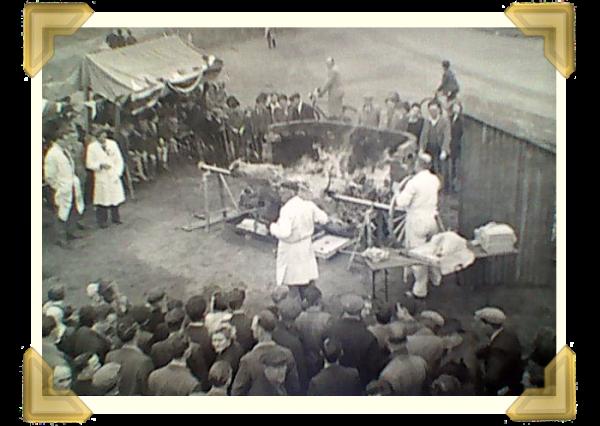 The Ox Roast, Wednesbury celebrating Coronation Day 1953