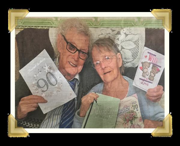 William Archer 90th birthday and 70th wedding anniversary, newspaper cutting