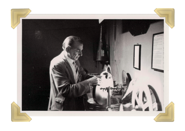 Gaumont Cinema projectionist (Courtesy of Ian Bott)