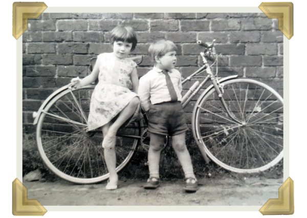 Elaine Roberts and cousin Dennis Willetts