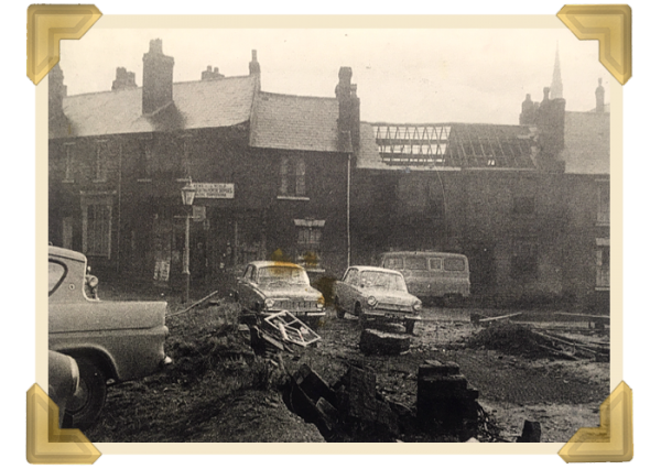 The demolition of Russell Street (newspaper cutting)