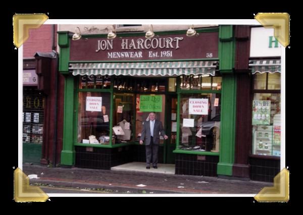 Jon Harcourt Menswear,  Lower High Street, John Harcourt retires, 2005 (courtesy of Ian Bott)