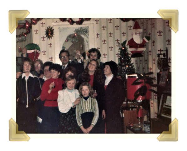 Staff and family, 39-40 Union Street Shop Christmas Eve 1977