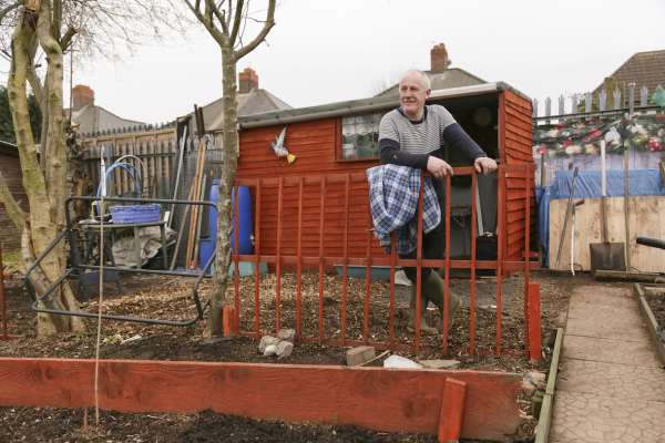 Dave Collins, Barlow Road Allotments, 2021 © Denise Maxwell