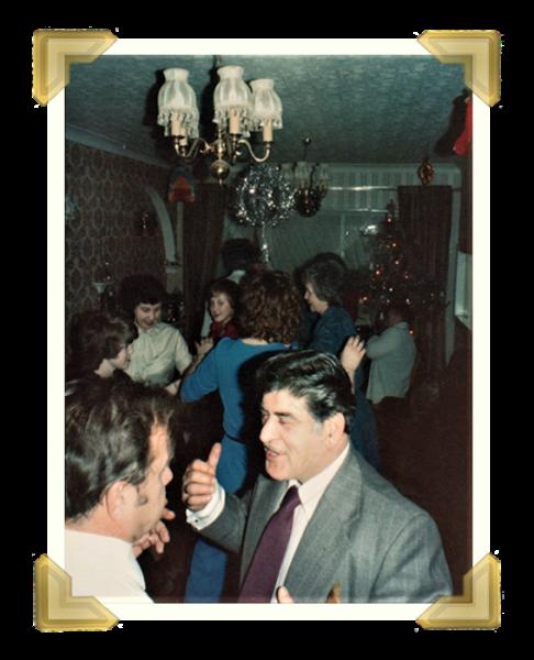 Staff and family, New Year's Eve Party at home (109 Woden Rd South) Marian Maczka, Toni Amorosa 1981