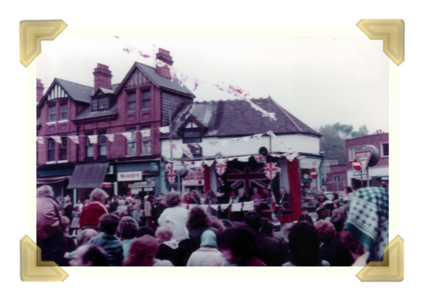 Upper High Street, Silver Jubilee, 24 June 1977 © Terry Nightingale (courtesy of Ian Bott)