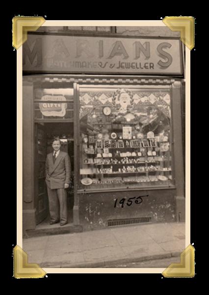 Marian's, 49 Union Street shop (Marian in doorway) 1955