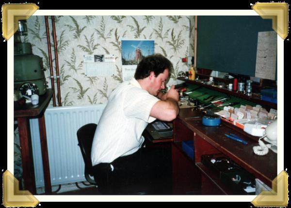 Ian Bott 'Watchmaker', Marian's Jewellers, Union St. Wednesbury. 1986