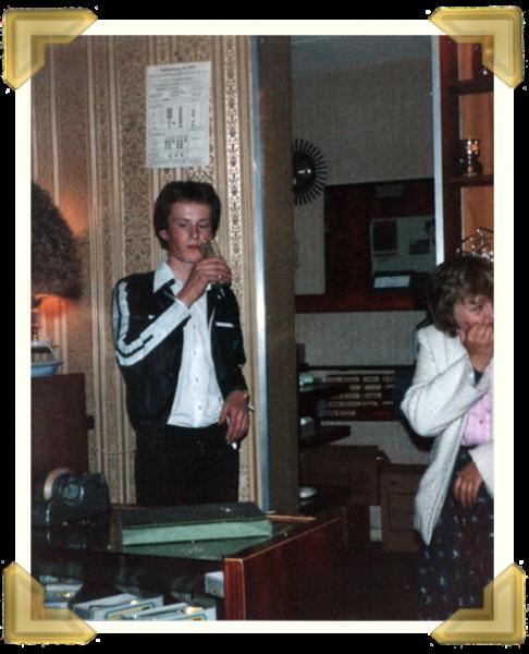 Marian's Jewellers, Union St. Wednesbury. Ian Bott's 18th Birthday, Marie Maczka. 21 May 1980