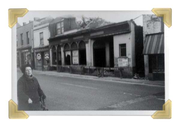 Upper High Sreet, demolition of Grapes Pub, 1967 (courtesy of Ian Bott)