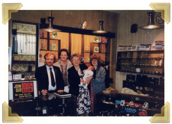 Marian's Jewellers, Union St. Wednesbury. Last day at the shop, 24 May 1986