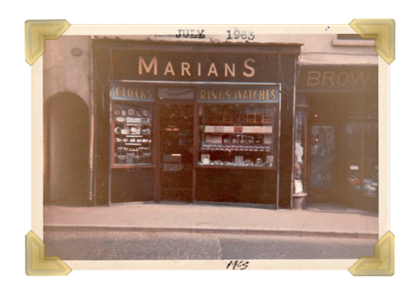 Marian's, 15 Union Street shop 1963