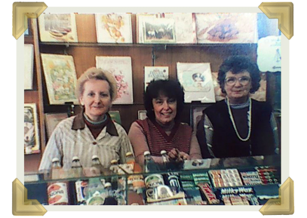 26a Market Place, (left) Kath Handley who worked for Rileys and stayed on, Pat (middle) and Mary Roberts