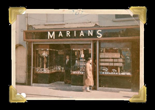 Marian's, 15-16 Union Street shop (Marian in doorway) 1967