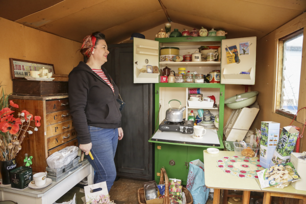 Claire Woodland, Woden Road Allotments, 2021 © Denise Maxwell