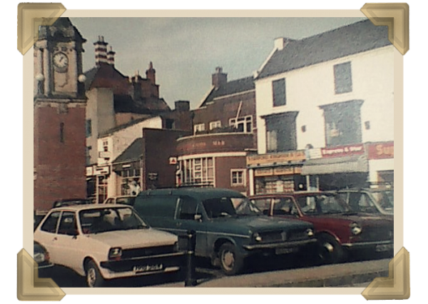 Wednesbury Market Place in the 1970s