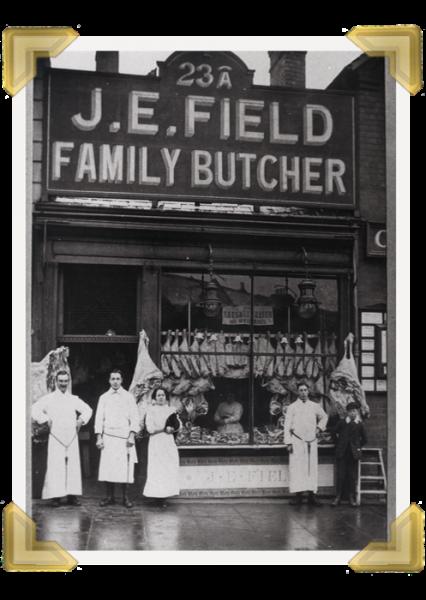 J.E. Field Butchers, 23a Market Place (courtesy of Ian Bott)