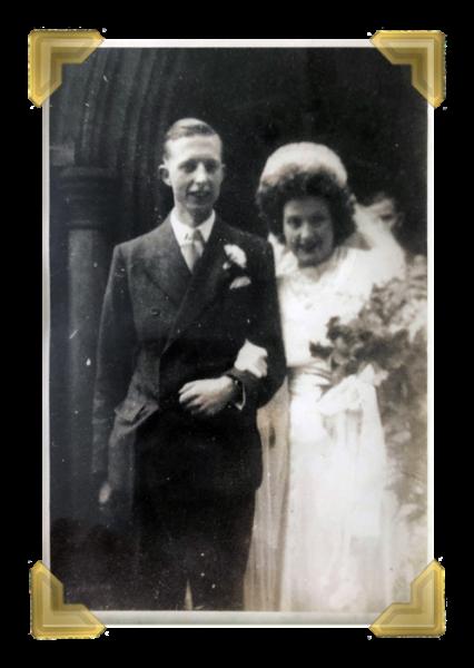 Violet Silwood married Desmond Heywood in 1949