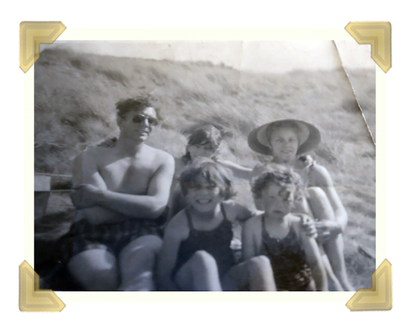 William Archer and family on a holiday in 1961