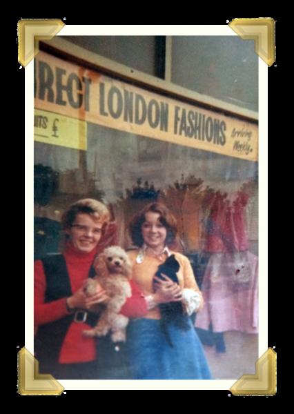 Freda Archer outside her shop Freda in Spring Head. 1970