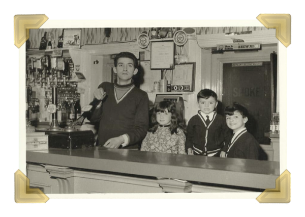 The Bellweather Pub, my home, 1969 -1972. Happy days with my dad Ted Pearson, brothers Phil, Merv Pearson (Mark) (courtesy of Sandra Reid)