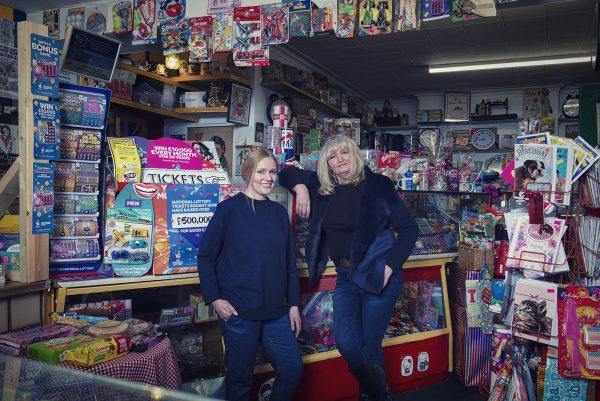 Margaret and Kate inside Maggie's Corner Shop © Marta Kochanek, Wednesbury High Street Stories HSHAZ, 2021