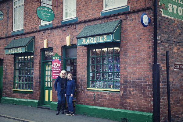 Margaret and Kate outside of Maggies Corner Shop © Marta Kochanek Wednesbury High Street Stories HSHAZ 2021