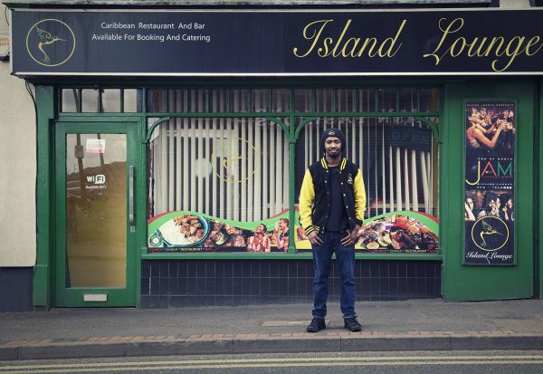 Marlon outside of Island Lounge © Marta Kochanek, Wednesbury High Street Stories, HSHAZ, 2021