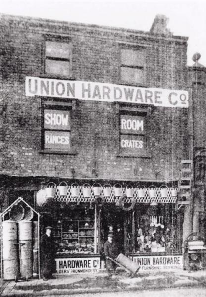 US7 Union Hardware Co. furnishing ironmongers, Union Street c. 1905