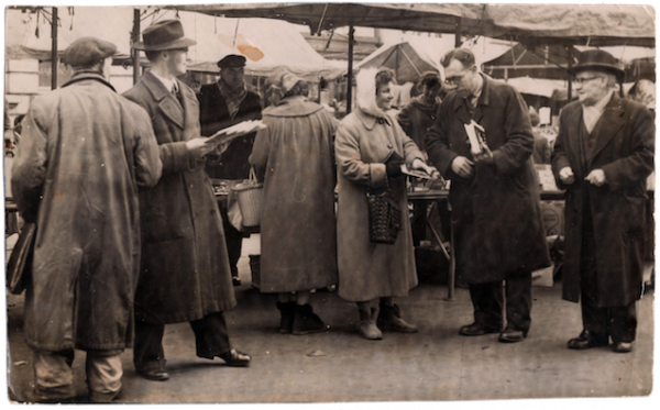 WMT20 Wednesbury Market Town. Labour Electioneering Sat Jan 31st 1959