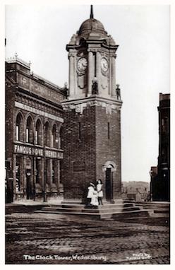WMT8 Wednesbury Market Town, c1911. Clock Tower. Photo by Harold Bott
